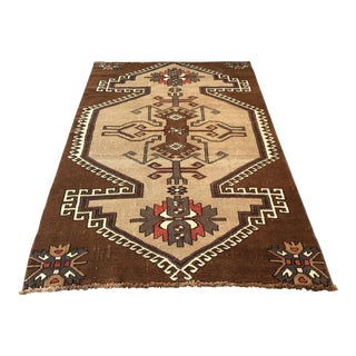 1960s Vintage Kars Region Nomad Rug - 7′9″ × 4′9″ For Sale