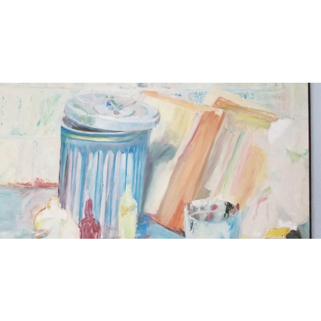 Canvas 1970's John Purcell Abstract Still Life Oil on Canvas Painting, Framed For Sale - Image 7 of 12
