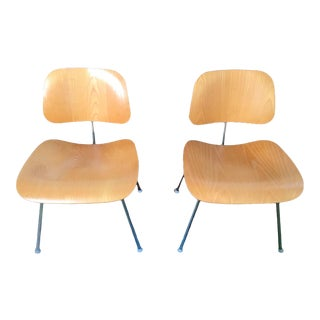 1990s Vintage Eames Herman Miller Dcm Chairs - a Pair For Sale