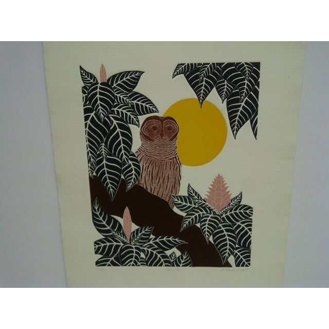 "This is a Limited Edition Signed and Numbered (13/100) Print that is titled ""Chouette"" by G. Clark Sealy dated 1977."