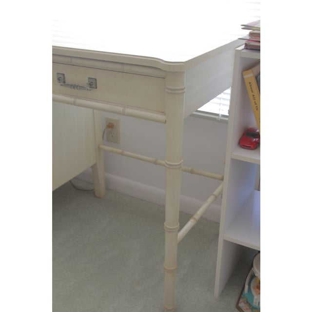 Henry Link 1970's Chinoiserie Henry Link Faux Bamboo Writing Desk For Sale - Image 4 of 7