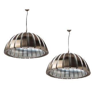 Pair of Ceiling Lamps by Elio Martinelli for Martinelli For Sale