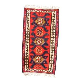 "Pasargad NY Antique Persian Shiraz Kilim Rug - 5'1"" x 9'9"" For Sale"