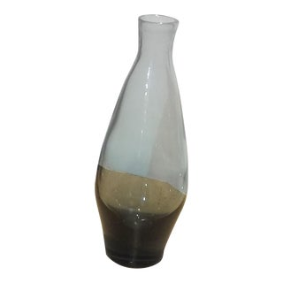 Vintage Murano Smoked Glass Bottle Vase