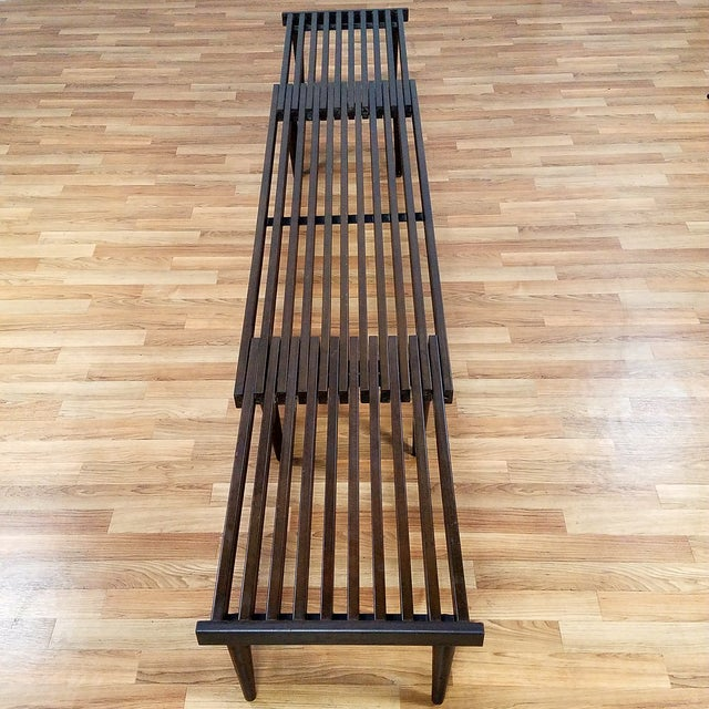 Brown Saltman Slat Bench - Image 7 of 10