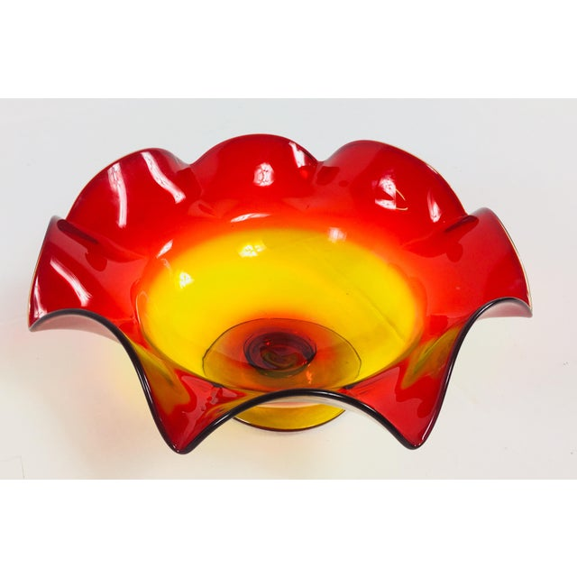 Blenko Vintage 1960s Handblown Blenko Glass For Sale - Image 4 of 6