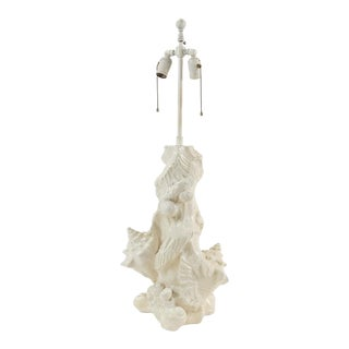 Sirmos Plaster Sea Shell Lamp For Sale