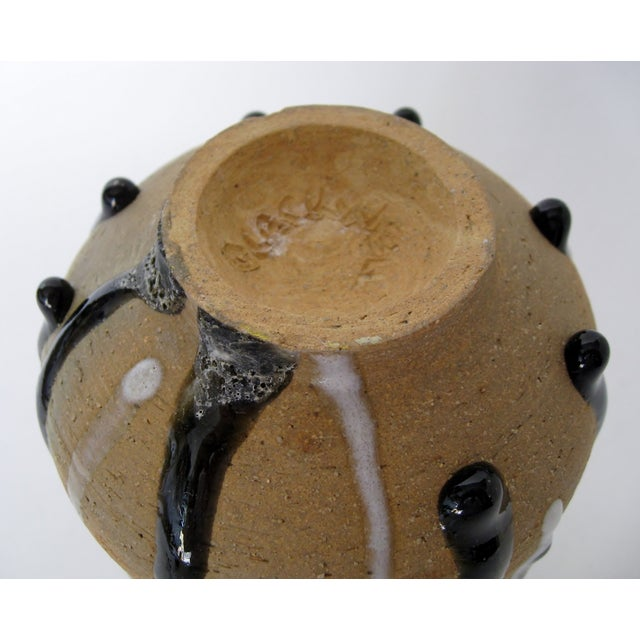 Heavy Drip Gloss Artisan Ceramic Vase - Image 7 of 7