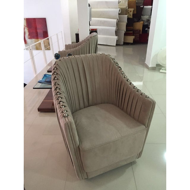 Cavalli Style Ultrasuede Chair - Image 2 of 5