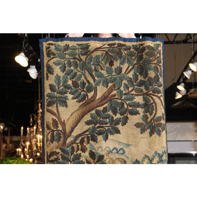 Pair of 19th Century French Handmade Vertical Tapestries with Pastoral Scenes For Sale - Image 9 of 12