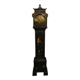 Chinoiserie Style Black Clock For Sale