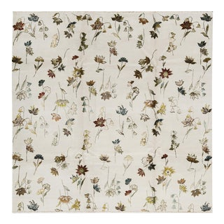 Contemporary Hand Woven Floral Rug - 8'9 X 8'10 For Sale