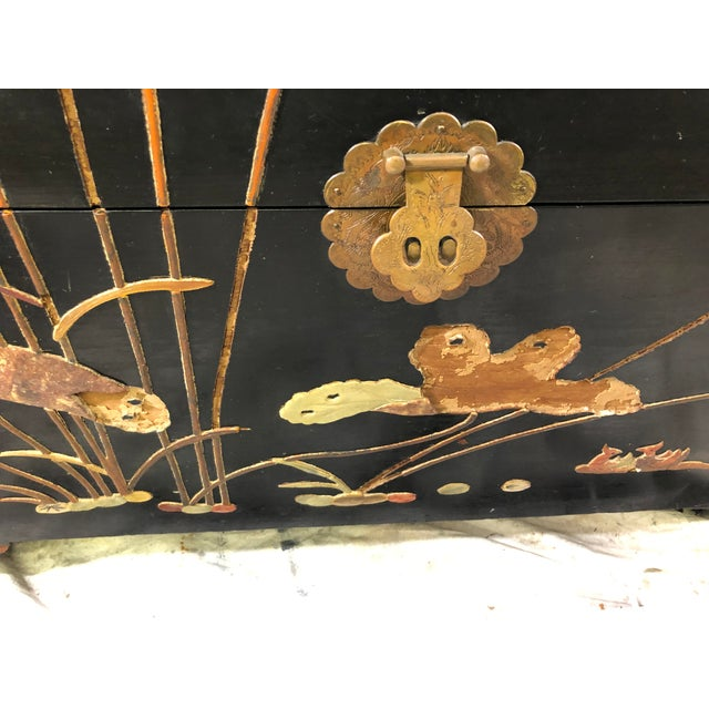 1950s George Zee Art Carved Chest With Stone Inlay For Sale In Rochester - Image 6 of 11