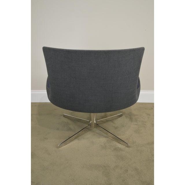 Monica Forster for Bernhardt Chrome Base Swivel Vika Lounge Chair For Sale - Image 12 of 13