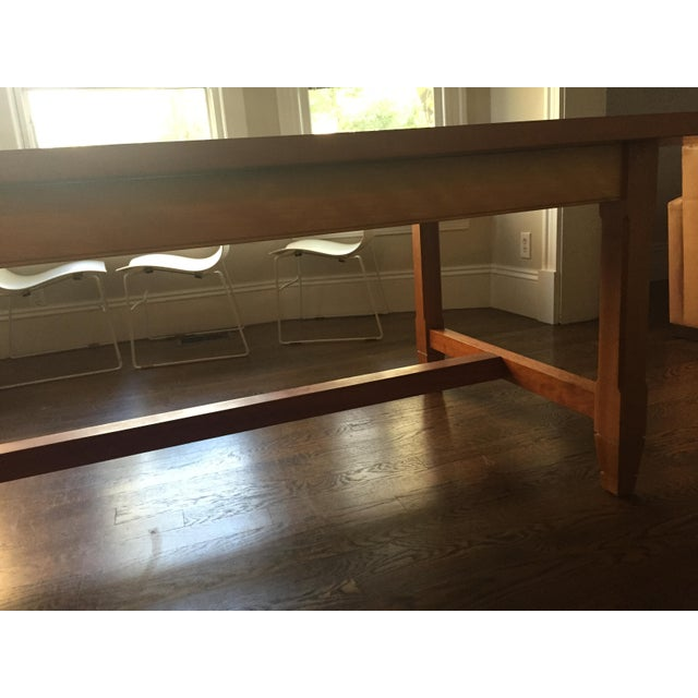 2000 - 2009 Solid Cherry Dining Table With Antique-Style Trestle For Sale - Image 5 of 11
