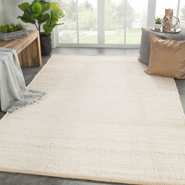 2010s Jaipur Living Anthro Natural Cream Area Rug - 2′ × 3′ For Sale - Image 5 of 6