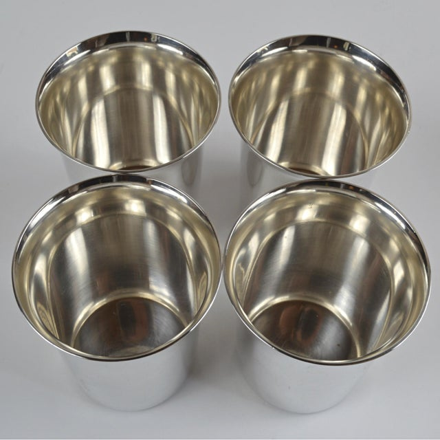 Metal 20th Century Sterling Silver Shot Glasses - Set of 4 For Sale - Image 7 of 8
