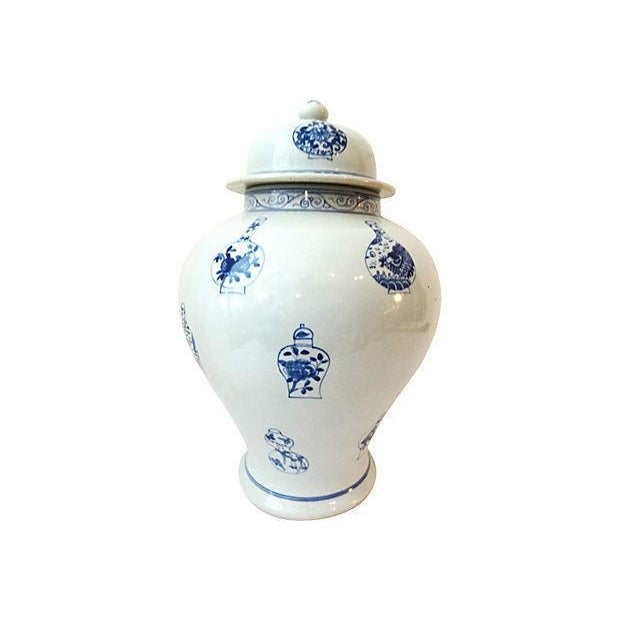 LG Hand-Painted Blue & White Ginger Jar - Image 2 of 7