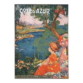 Original 1990 French Cote d'Azur Plm Poster, David Dellepiane For Sale