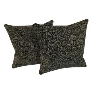 Kravet Basics Chenille Animal Pattern Down Feather Pillows For Sale