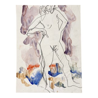 'Standing Nude' by Victor Di Gesu; Louvre, Academie Chaumiere, Carmel, California, San Francisco Art Association, Los Angeles County Museum of Art For Sale