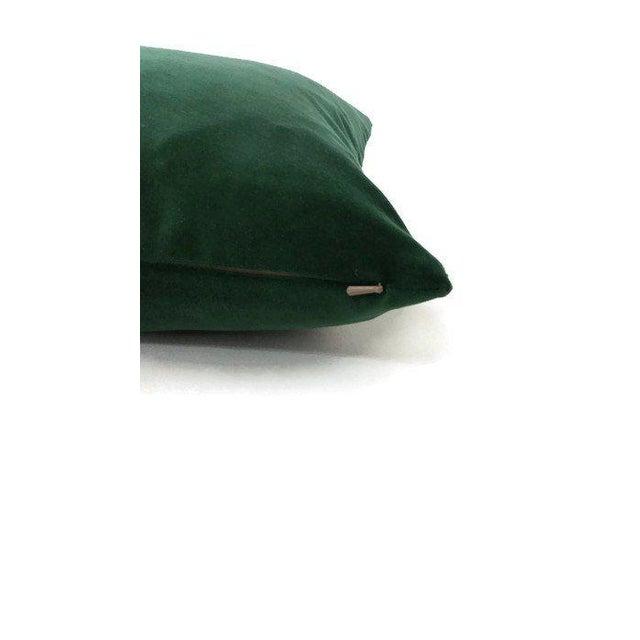 Kravet Kravet Versailles Velvet Emerald Green Lumbar Pillow Cover For Sale - Image 4 of 6
