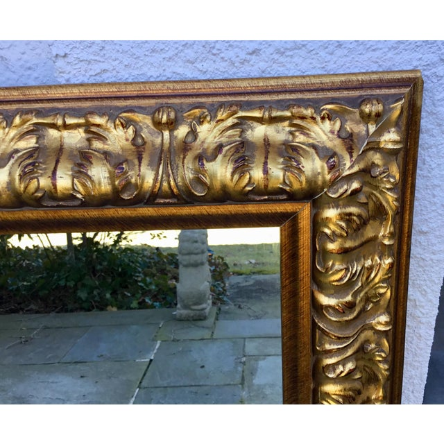 Traditional Ornate Gilt Wood Mirror For Sale - Image 3 of 7