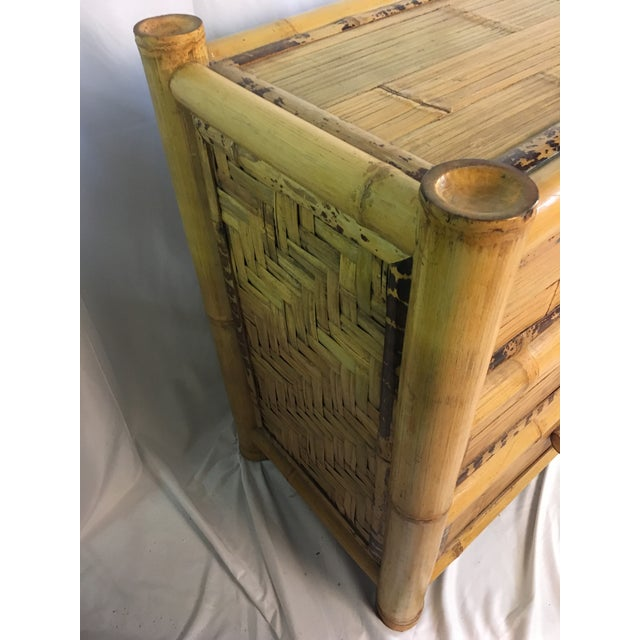1960s Chinoiserie Bamboo Dresser For Sale - Image 9 of 10