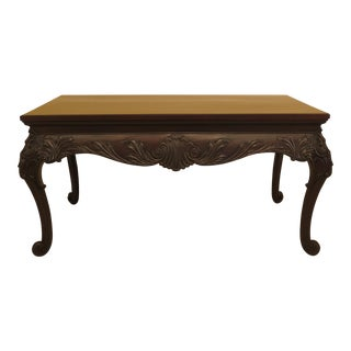 Large French Louis XV Style Carved Library Table