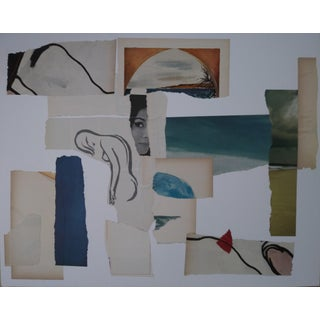 Contemporary Handmade Abstract Paper Collage For Sale
