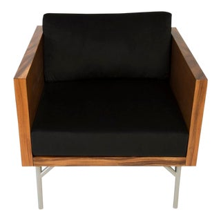Phillips Collection Verve Club Chair, Plywood Veneer Sungkai For Sale