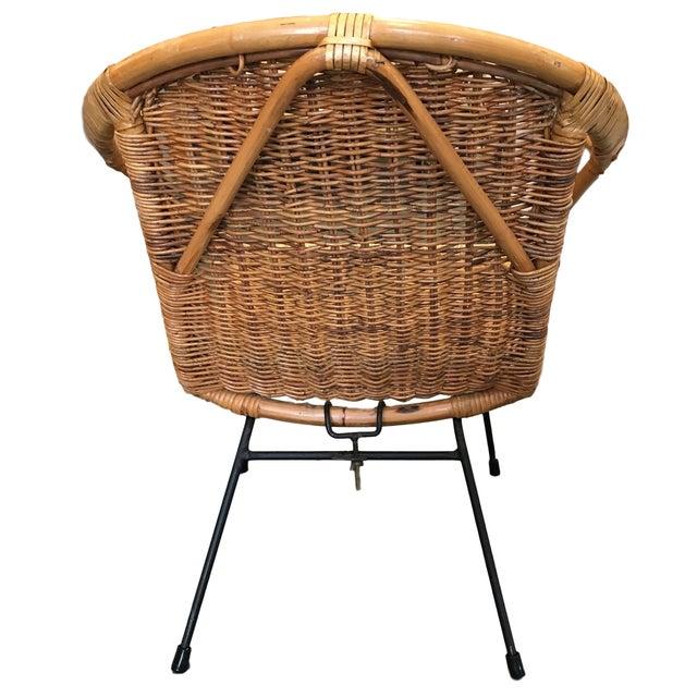 Vintage Rattan Hoop Chair - Image 3 of 5