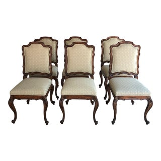 1990s Vintage Guy Chaddock French-Inspired Walnut Dining Chairs - Set of 6