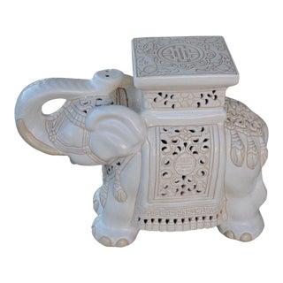 1970s Chinoiserie Ceramic Garden Stool