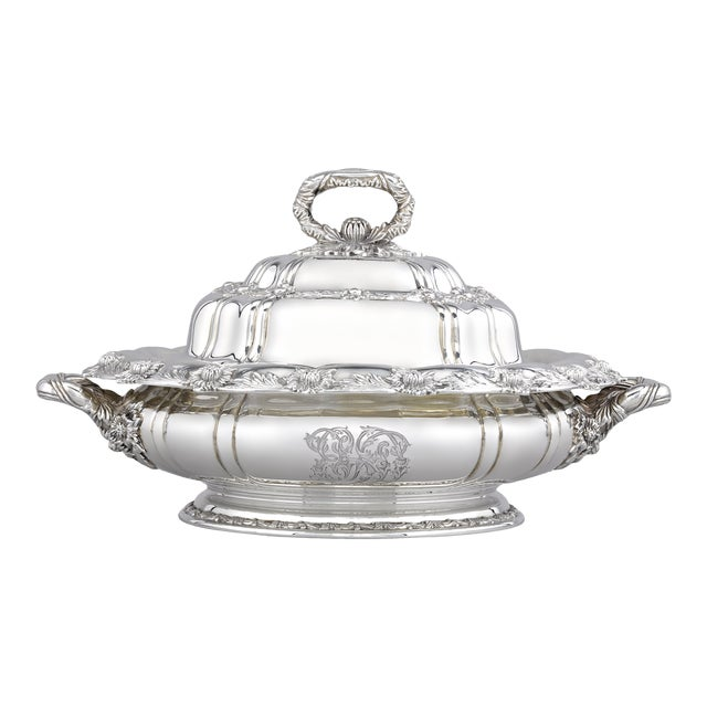 Tiffany & Co. Chrysanthemum Silver Entree Dish For Sale