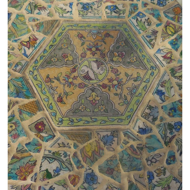 Antique Persian Mosaic Tile Table - Image 5 of 11