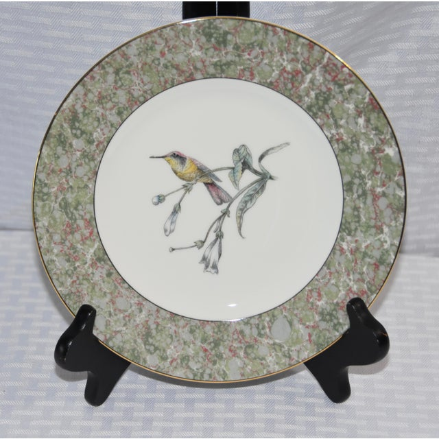 Art Deco 1990 Humming Birds by Wedgwood Salad/Dessert Plates - Set of 5 For Sale - Image 3 of 7