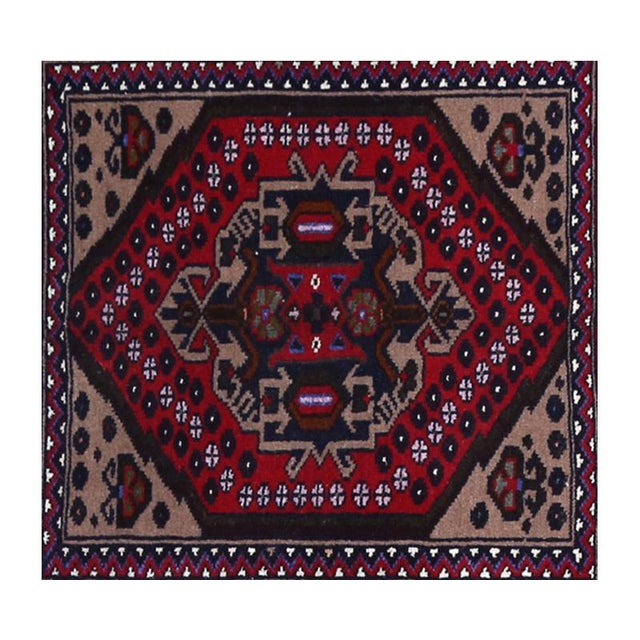 1990s Persian Ghochan Tribal Rug - 3' x 5' For Sale - Image 5 of 6