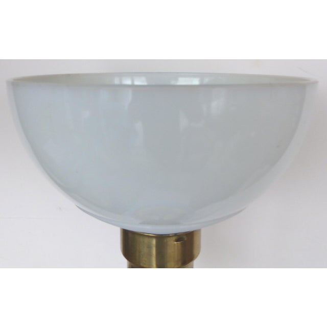 Blue Murano Glass Table Lamp by Marbro For Sale - Image 9 of 9