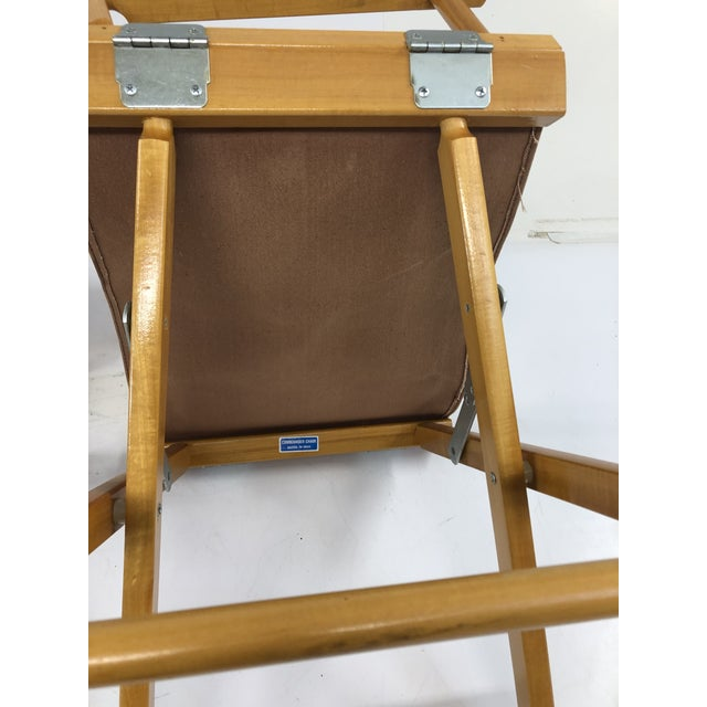 Canvas Vintage Wood & Canvas Folding Director Chairs - a Pair For Sale - Image 7 of 12