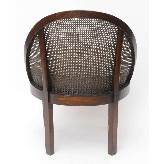 White Distinctive Mahogany Cane Back Chair For Sale - Image 8 of 10