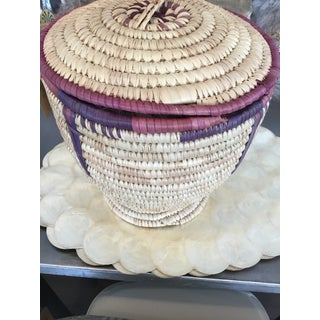 Hand Woven Basket With Lid Preview