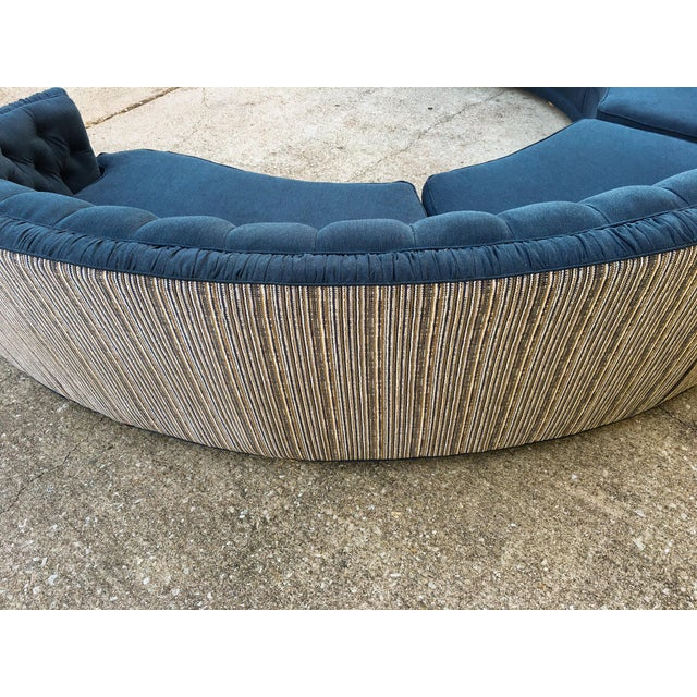 Mid-Century Semi-Circular Sectional - Image 7 of 11