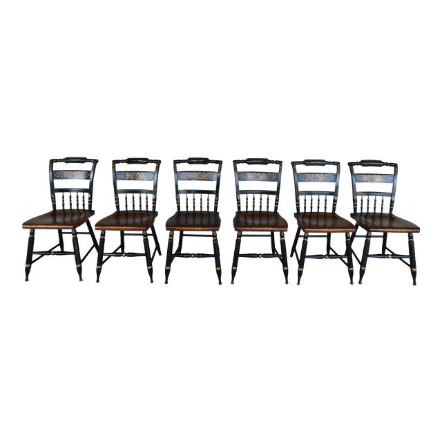 Cool L Hitchcock Black Harvest Inn Chairs Set Of 6 Pdpeps Interior Chair Design Pdpepsorg