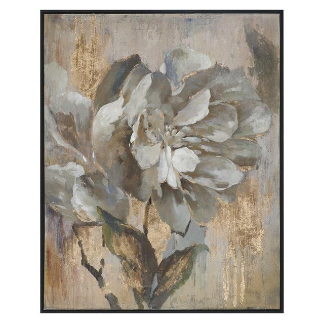 large glam floral painting chairish