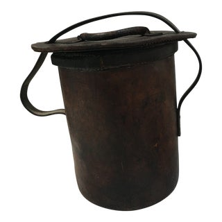 Antique Farmhouse Leather Fire Bucket For Sale