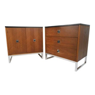 Pair Vintage Modern Dressers by Thomasville For Sale