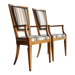 Hollywood Regency Baker-Style Armchairs, a Pair For Sale