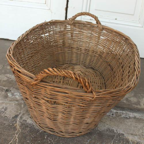 Oval Vintage French Laundry Basket - Image 4 of 8