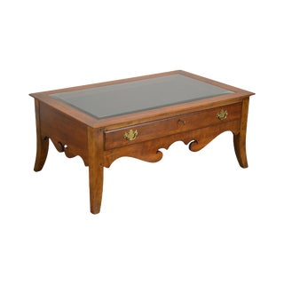 Lineage Show Case Glass Display Top Coffee Table With Drawer For Sale
